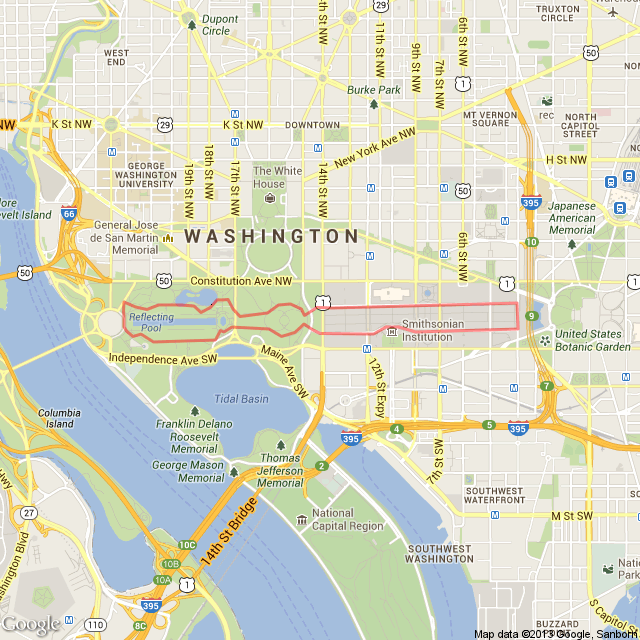 Run My Route Running Map 400 Km National Mall Running Route